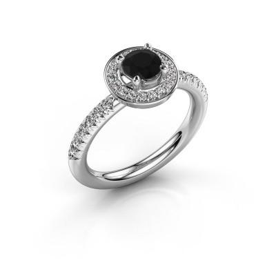 Foto van Ring Christine 925 zilver zwarte diamant 0.945 crt