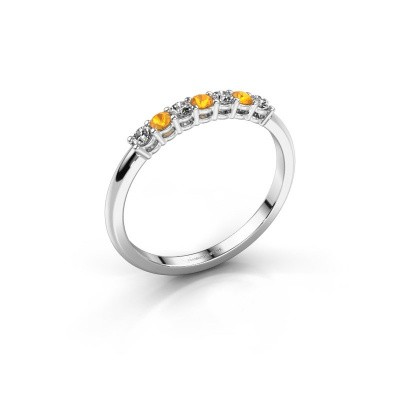 Foto van Verlovings ring Michelle 7 585 witgoud citrien 2 mm