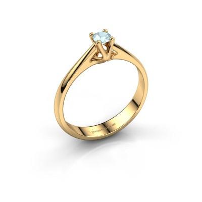 Foto van Verlovingsring Janna 1 375 goud aquamarijn 3.4 mm