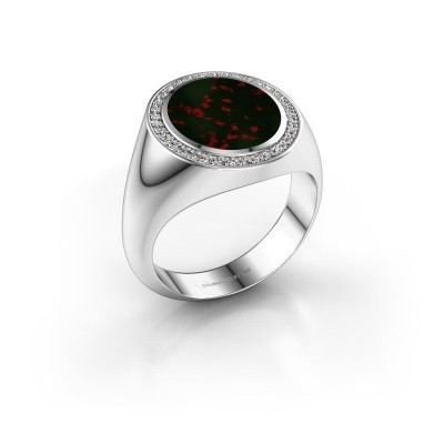 Signet ring Adam 3 950 platinum bloodstone 13x11 mm