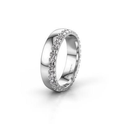 Wedding ring WH6122L25B 925 silver diamond ±5x2 mm