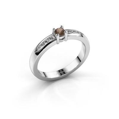 Verlovingsring Zohra 925 zilver rookkwarts 3 mm