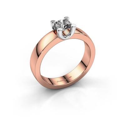 Foto van Verlovingsring Mozelle 585 rosé goud diamant 0.50 crt