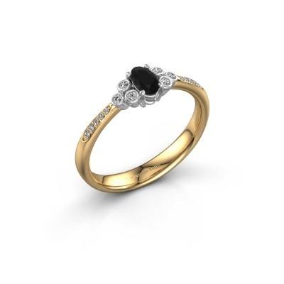 Verlovingsring Lucy 2 585 goud zwarte diamant 1.129 crt