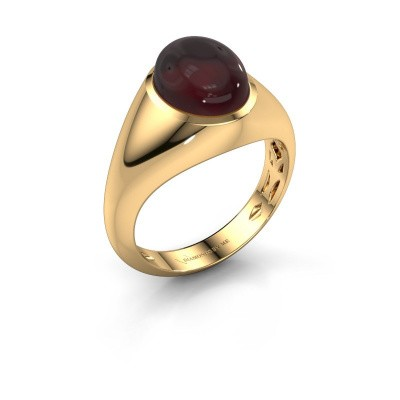 Ring Zaza 375 gold garnet 10x8 mm