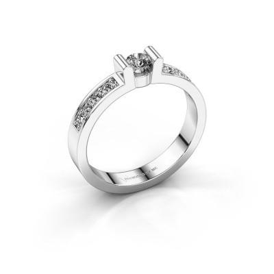 Verlovingsring Sofie 2 925 zilver lab-grown diamant 0.15 crt