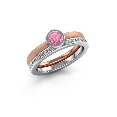 Picture of Ring Cara 585 rose gold pink sapphire 4 mm