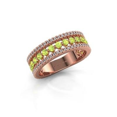 Engagement ring Elizbeth 1 375 rose gold peridot 2 mm