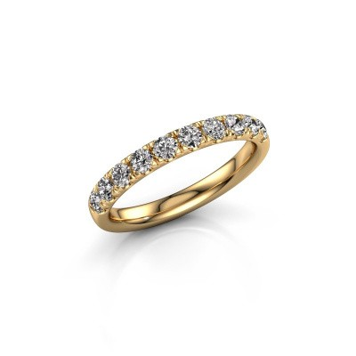 Picture of Stackable ring Jackie Half 375 gold lab-grown diamond 0.55 crt