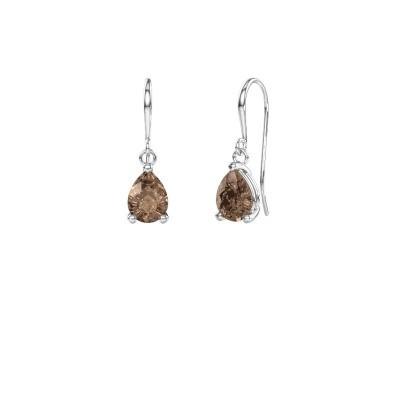 Foto van Oorhangers Laurie 1 950 platina bruine diamant 0.80 crt