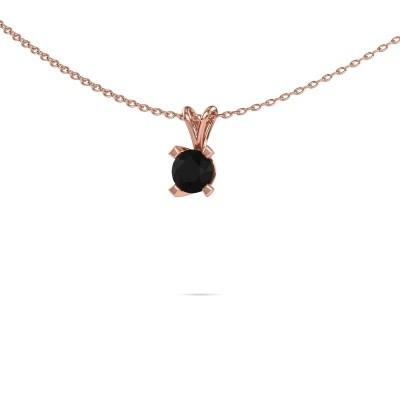 Foto van Hanger Eva 375 rosé goud zwarte diamant 0.60 crt