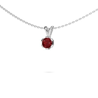Picture of Necklace Julia 585 white gold ruby 5 mm