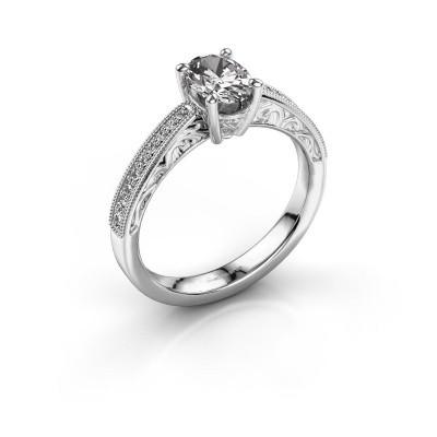 Bague de fiançailles Shonta OVL 950 platine diamant synthétique 0.93 crt