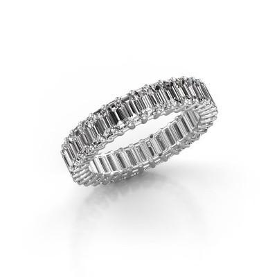 Aanschuifring Heddy EME 4x2 585 witgoud diamant 4.95 crt