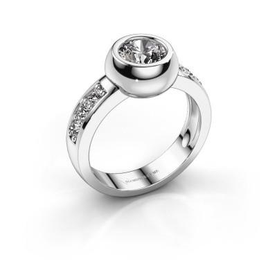 Ring Charlotte Round 585 witgoud diamant 1.33 crt