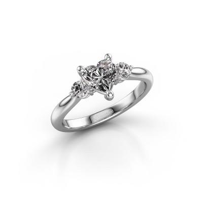 Foto van Verlovingsring Lieselot HRT 925 zilver diamant 1.24 crt