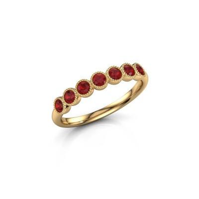 Foto van Ring Mariam half 375 goud robijn 2.4 mm