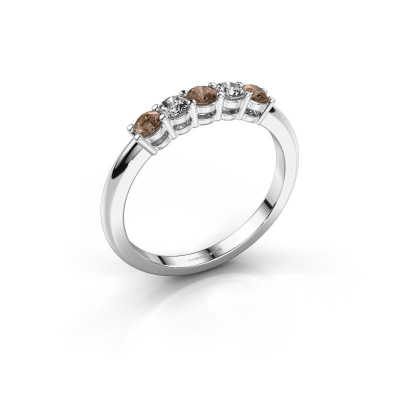 Picture of Promise ring Michelle 5 950 platinum brown diamond 0.40 crt