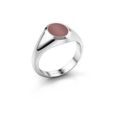 Pinkring Herman 1 375 witgoud carneool 10x8 mm