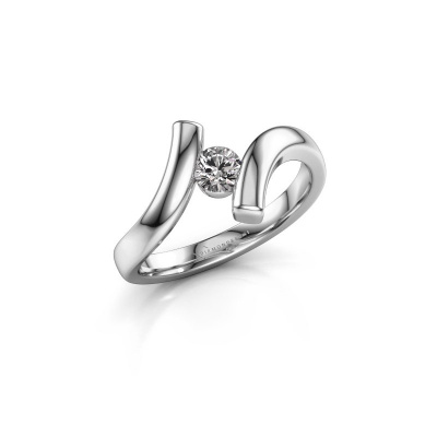 Ring Amy 585 witgoud diamant 0.25 crt