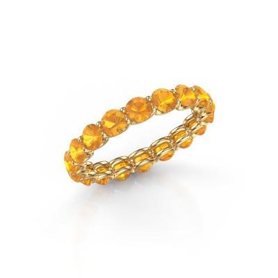 Foto van Ring Kirsten 3.4 375 goud citrien 3.4 mm