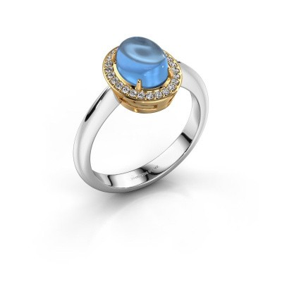 Picture of Ring Kristian 585 white gold blue topaz 8x6 mm