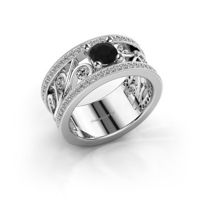 Picture of Ring Sanne 925 silver black diamond 1.23 crt
