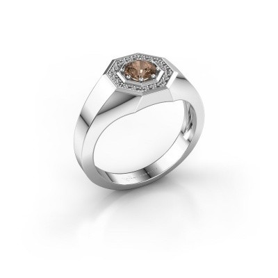 Foto van Heren ring Jaap 950 platina bruine diamant 0.62 crt