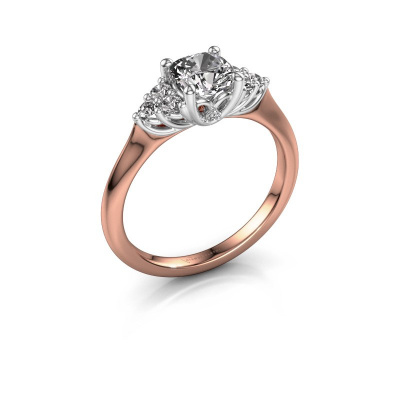 Verlovingsring Felipa CUS 585 rosé goud diamant 1.193 crt