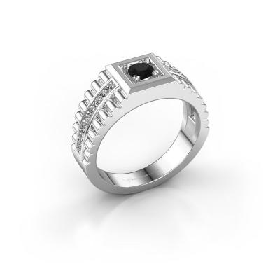 Foto van Heren ring Maikel 950 platina zwarte diamant 0.60 crt