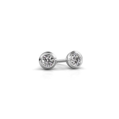 Picture of Stud earrings Shemika 925 silver zirconia 3.4 mm