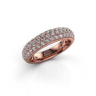 Foto van Ring Emely 6 375 rosé goud zirkonia 1.7 mm