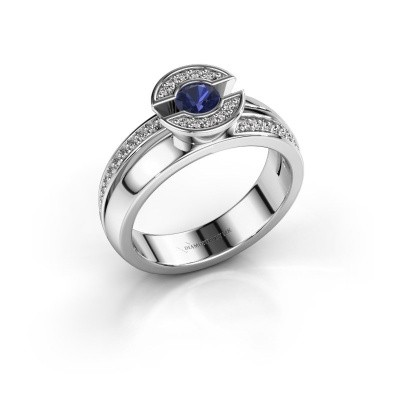 Picture of Ring Jeanet 2 950 platinum sapphire 4 mm