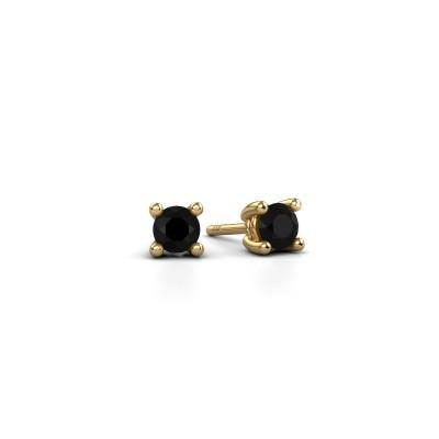 Foto van Oorstekers Sam 375 goud zwarte diamant 0.30 crt