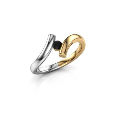 Foto van Ring Amy 585 goud zwarte diamant 0.12 crt