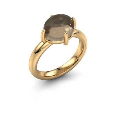 Ring Melodee 585 gold smokey quartz 10x8 mm