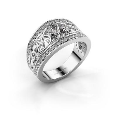 Foto van Ring Marilee 950 platina zirkonia 5 mm
