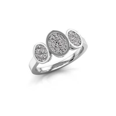 Verlovingsring Karleen 925 zilver diamant 0.596 crt