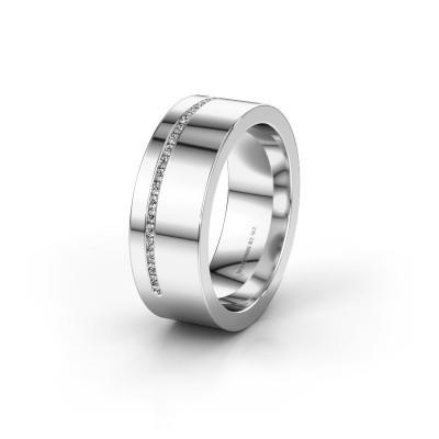 Trouwring WH0143L17BP 950 platina diamant ±7x2 mm