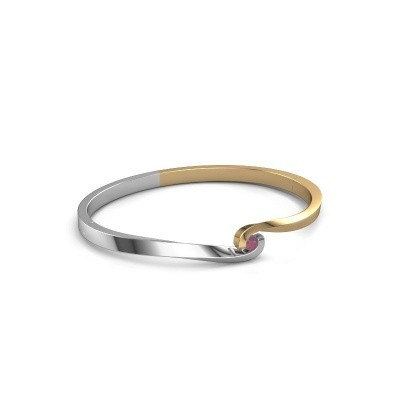 Bangle Sheryl 585 gold rhodolite 3.7 mm