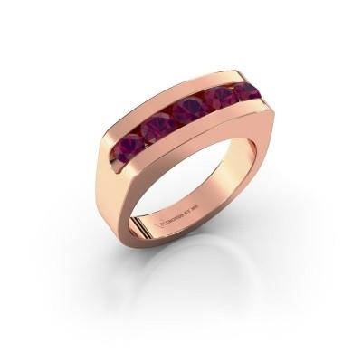 Foto van Heren ring Richard 375 rosé goud rhodoliet 4 mm