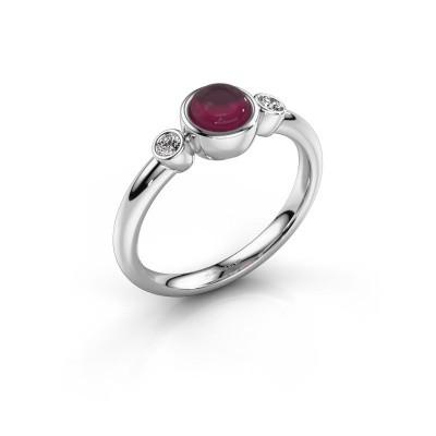 Ring Muriel 925 silver rhodolite 5 mm