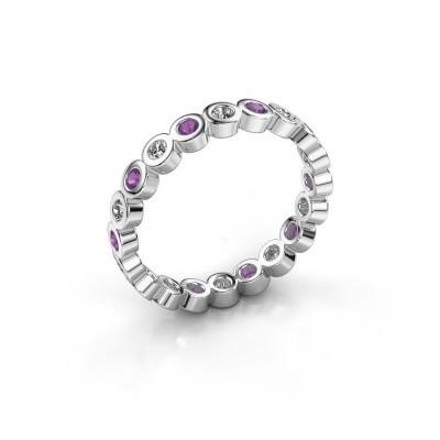 Foto van Aanschuifring Edwina 1 925 zilver diamant 0.30 crt