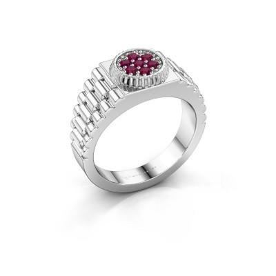 Foto van Rolex stijl ring Nout 585 witgoud rhodoliet 2 mm