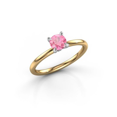 Picture of Engagement ring Crystal RND 1 585 gold pink sapphire 5 mm