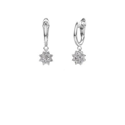 Picture of Drop earrings Camille 1 585 white gold zirconia 3 mm
