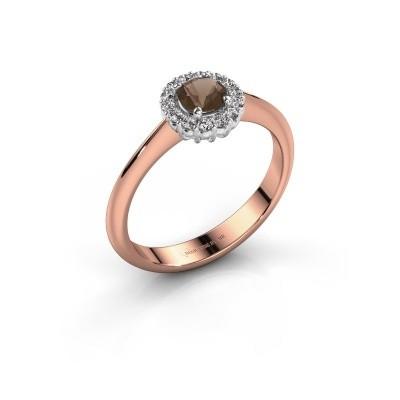 Verlovingsring Anca 585 rosé goud rookkwarts 4.2 mm
