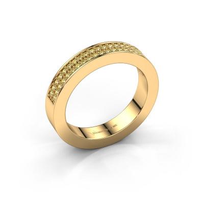 Aanschuifring Catharina 2 585 goud gele saffier 1.1 mm