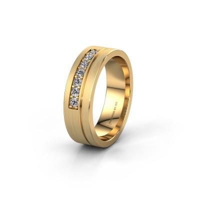 Trouwring WH0312L16AM 585 goud lab-grown diamant ±6x1.7 mm