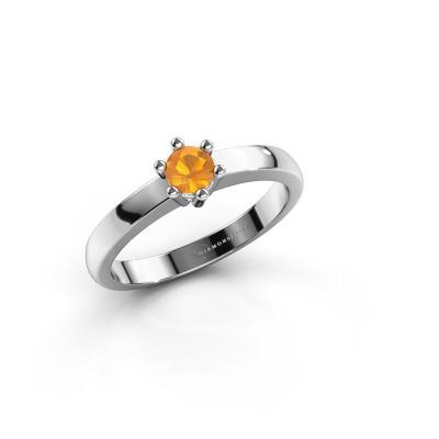 Engagement ring Luna 1 585 white gold citrin 3.7 mm